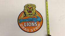 HUGE Lions DragStrip Jacket Vest Bag Iron On Patch Big large car racing logo