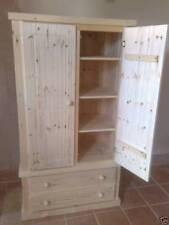 AYLESBURY PINE LINEN PRESS WITH 2 DRAWERS AND 3 SHELVES I.T.W BARE WOOD