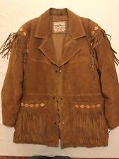 Smith And Wesson Vintage Western Mens L Fringe Jacket