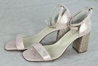 WOW S.IENNA Damen Sandale Sandalette Leder rosé-gold Schuhe Gr 40 NEU Y10A