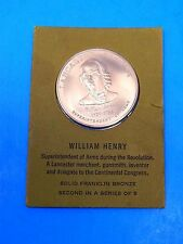 William Henry Solid Franklin Bronze medal second in a series of 5