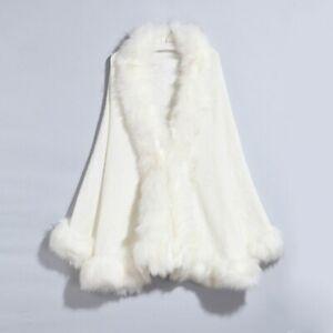 Winter Fur Coat Women Cape Autumn Winter Faux Fur Cape Coat Warm Outwear