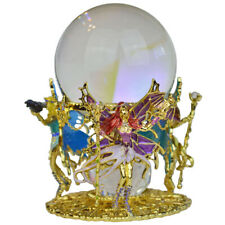 Kirks Folly Warrior Fairy Princess Gazing Globe goldtone