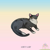 Grey Cat Disney Embroidered Iron On Sew On Patch Badge For Clothes etc