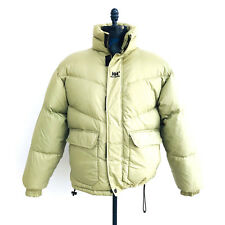 Helly Hansen Down Filled Puffer Jacket Beige/Green Mens Size Medium