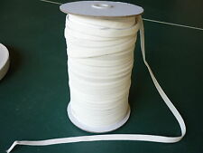 ELASTIC 9mm White 100mt Roll for Skirts Pants Swimwear