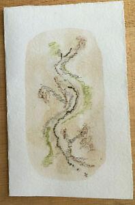 F92 Drawing Original Map Wishes Per Irene Zack (1918-2013)