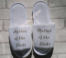 Maid of honour, slippers, bridesmaid slippers, bride slippers, spa slippers,