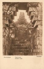 INDONESIA JAVA BOROBUDUR BUDDHIST TEMPLE EASTERN GATE VINTAGE POSTCARD
