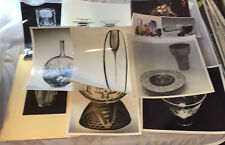 Ten Vintage Press Photos Of Museum Quality Art Glass And Art Pottery