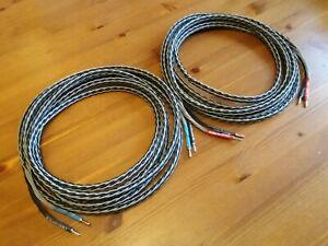 Kimber Kable 8VS speaker cable - 2.6m pair factory bananas 9 AWG