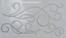 1 CONF. da 3 chiaro decorazioni spirali strass Stick su adesivi Gemme