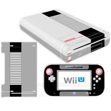 Nintendo Wii U Console Controllers Skin Kit NES Retro Vinyl Decals Stickers Case