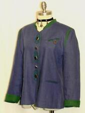 BLUE ~ LINEN German Women EMBR Hunting Riding SUMMER Dress Suit JACKET 40 10 M