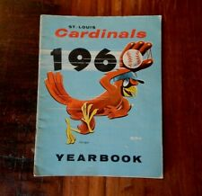 1960 ST LOUIS CARDINALS BASEBALL YEARBOOK MUSIAL GIBSON FLOOD BOYER MCCARVER ++