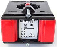 MBS ASK 31.3 Stromwandler Messwandler Nr. 12D Pri. 400A Sek. 5A 5VA KL. 1