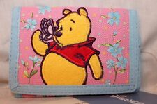 NEW WITH TAG WINNIE THE POOH KIDS TRIFOLD  WALLET  PINK/BLUE