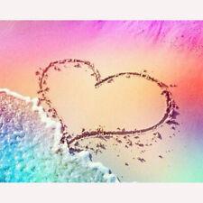 Full Drill Diamond Painting Kit Like Cross Stitch Love Heart Beach DIY ZY225B