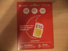 NEW PAYG VODAFONE 3G/4G MOBILE MICRO/NANO SIM CARD PACK - (BRAND NEW) (IPHONE)