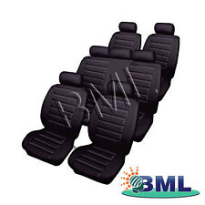 MPV 7 SEATER LEATHERLOOK CAR BLACK SEAT COVERS SET.PART- 66533FD