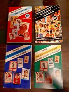 LOT of 4, 1980 to 1983, Hockey Card Checklist and Price Guide, First 4 Editions