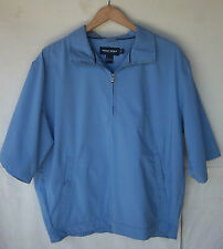 RALPH LAUREN - Men's POLO Golf Blue Half Zipper Pullover Golf Coat -- Size L --