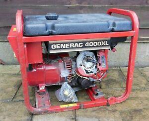 GENERAC 4000XL Model 9973-0 GN-220 7.8HP Engine 3400W 240/110V Petrol Generator