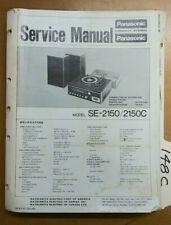 Panasonic SE 2150 C service manual original repair book Stereo Record Player