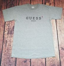 Vintage ORIGINAL GUESS ? JEANS USA Solid Gray T-Shirt RARE 90s Size Medium M