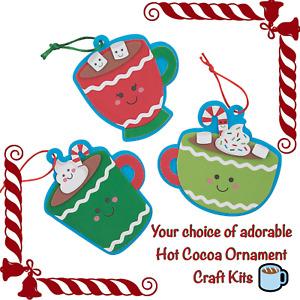 🦌Christmas Hot Cocoa Ornament Craft Kit Santa Reindeer Tree U Pick 15% Off $35+