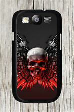 SKULL HEAD WEAPONS CASE COVER FOR SAMSUNG GALAXY S3 -xsd5Z