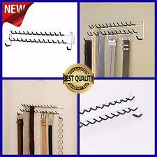 Tie Belt Wall Mount Rack Holder Hanger Necklace Necktie Organizer, White