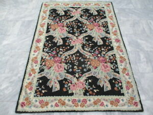 6456 - Old Kashmiri Hand Stitch Wool Chain - 173 x 116 cm