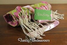 Lilly Pulitzer Murfee Scarf Hibiscus Pin Serenity Pink Green NWT