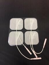 """NEW 16 pcs Reusable """"Pigtail"""" Electrode Pads 2"""" x 2"""" for Digital Tens Unit BULK"""