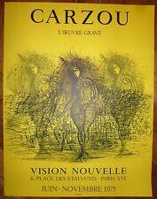 Carzou Jean affiche en lithographie Mourlot 1975 L'oeuvre gravé
