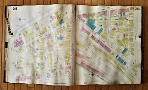 1922 antique SANFORD ATLAS map co ROCHESTER NY 115pg with pasted-down revisions