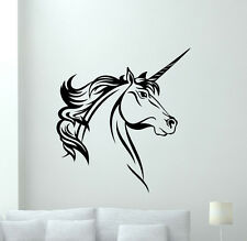 Unicorn Wall Decals Horse Nursery Poster Vinyl Stickers Bedroom Baby Decor 49aaa