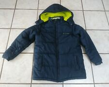 Calvin Klein Boys Eclipse Hooded Puffer Jacket Navy/Green Size  L **EUC**