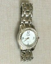 Wrangler Silver Women's Watch Crystal Surrounds Round White Dial on Linked Band!
