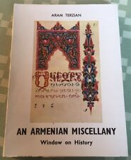ARMENIAN MISCELLANY by Aram Terzian 1969 Window on History of Armenia and Church