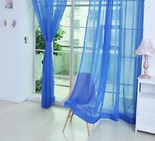 Tulle Voile Door Window Curtain Drape Panel Sheer Scarf Valances Home Decoration