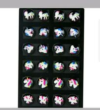 12 Pairs/Set Unicorn Ear Stud Earrings Kids Girl Women Round Party Jewelry Gift