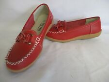 Shoe Tree, Red Leather, UK5, Comfort Shoes, Lace Up, White Stitching