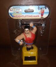 Solar Power Dancing Toys  Weightlifting Man.