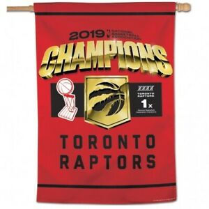 "TORONTO RAPTORS 2019 CHAMPIONS VERTICAL BANNER/FLAG 28"" X 40"" SHIPS FROM CANADA"