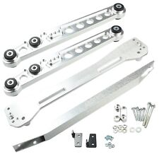 Rear Lower Control Arm Subframe Brace Tie Bar For 96-00 Honda Civic EK Silver