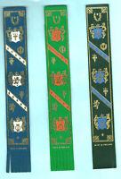 Leather Bookmark Geometric Florentine Made England Heraldic Lions Crest Gift Men