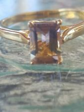 Ametrine Octagon Cut Ring 10kt Solid Yellow Gold