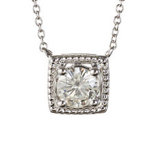 Charles & Colvard Forever Classic Round 6.0mm Moissanite Necklace, 0.80ct DEW